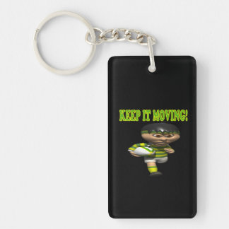 Keep It Moving Keychain