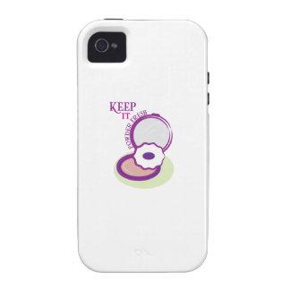 Keep It Powder Fresh Case-Mate iPhone 4 Covers