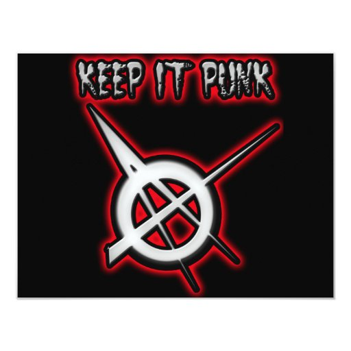 KEEP IT PUNK ROCK 4.25X5.5 PAPER INVITATION CARD