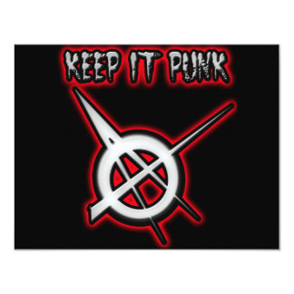 KEEP IT PUNK ROCK CARD