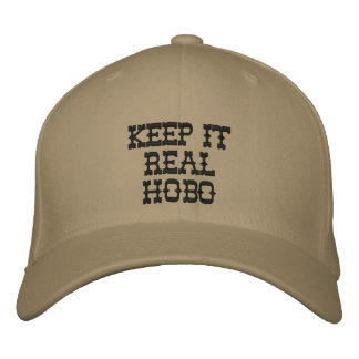 keep it real hobo embroidered hats