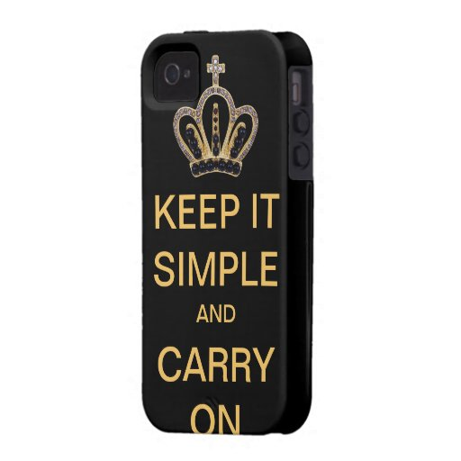 Keep it Simple and Carry On iPhone 4 Case