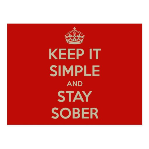 Keep It Simple and Stay Stober Postcard