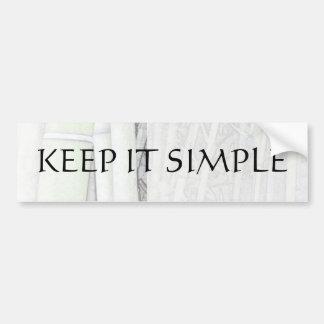 Keep It Simple Bamboo Light Bumper Sticker Car Bumper Sticker