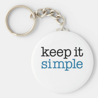 Keep It Simple Basic Round Button Keychain