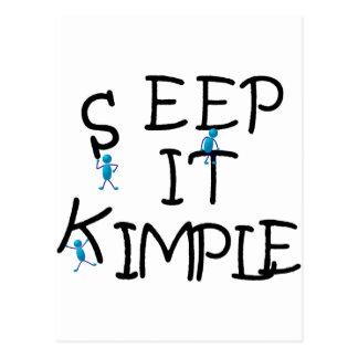 Keep It Simple - Black Postcard