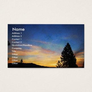 Keep it Simple Blue Orange Sunrise Profile Card