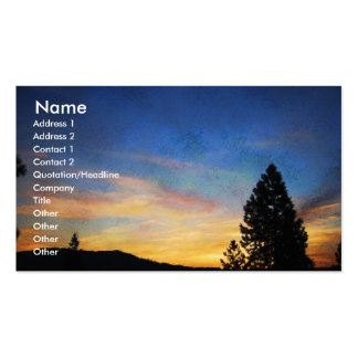 Keep it Simple Blue Orange Sunrise Profile Card Business Card