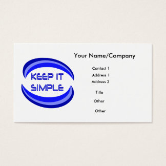 Keep It Simple Business Card