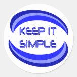 Keep It Simple Classic Round Sticker