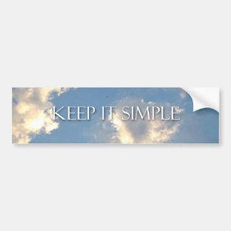 Keep It Simple Clouds Bumper Sticker Car Bumper Sticker