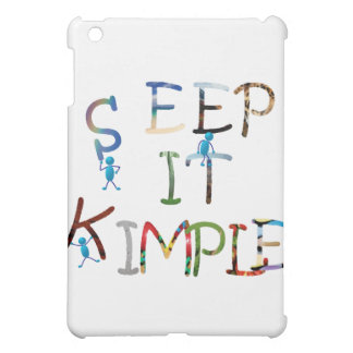 Keep It Simple - Color iPad Mini Case