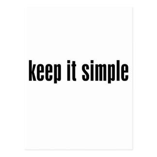 keep it simple Customize Product Postcard