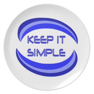 Keep it Simple Dinner Plate