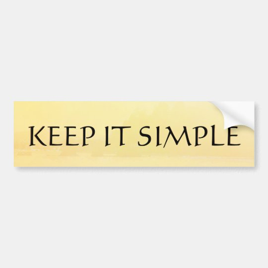 Keep It Simple Golden Shore Bumper Sticker