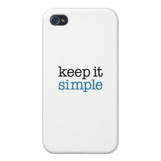 Keep It Simple iPhone 4 Cover