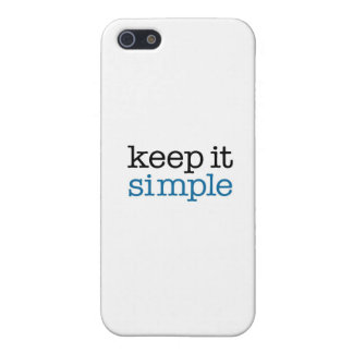 Keep It Simple iPhone SE/5/5s Cover