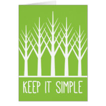 Keep it Simple Keep Coming Back Green Trees Card