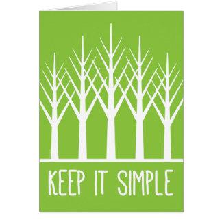 Keep it Simple Keep Coming Back Green Trees Card