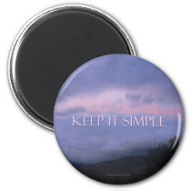 Keep It Simple Pink Clouds Magnet
