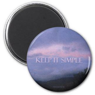 Keep It Simple Pink Clouds Magnet