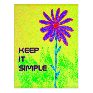 Keep It Simple postcard