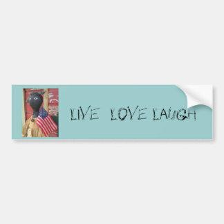 Keep It Simple Primitive Doll Bumper Sticker