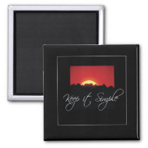 Keep it Simple Recovery, Sunrise, Black Recovery Magnet