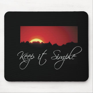 Keep it Simple Recovery, Sunrise, Black Recovery Mouse Pad