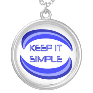 Keep it Simple Round Pendant Necklace