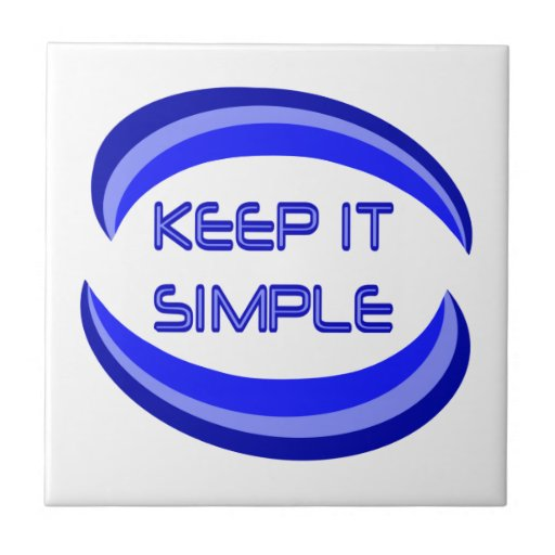 Keep it Simple Small Square Tile