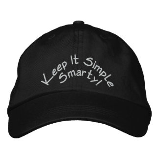 Keep it simple smarty Black Hat Embroidered Hat