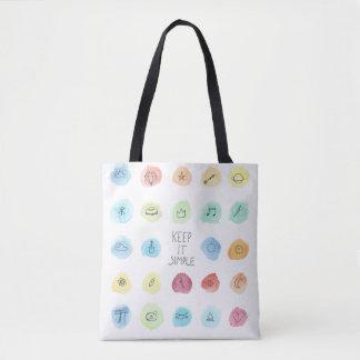 Keep It Simple Splotch Pattern on Tote Bag