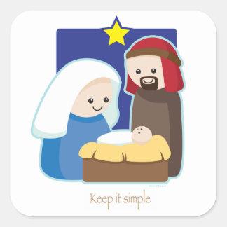 Keep It Simple Square Sticker