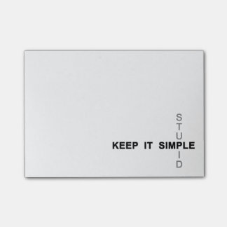 Keep It Simple & Stupid Post-it® Notes