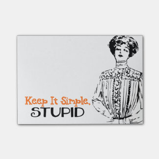 Keep It Simple, Stupid | Snarky Victorian Quote Post-it® Notes