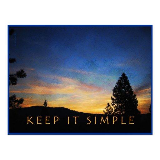 Keep It Simple Sunrise Postcard