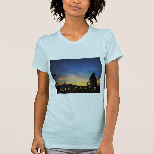 Keep It Simple Sunrise Tee Shirts