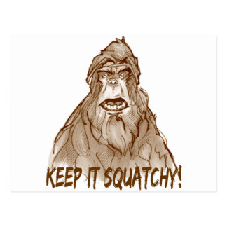 KEEP IT SQUATCHY - Bigfoot Pro's Squatch Head Postcard