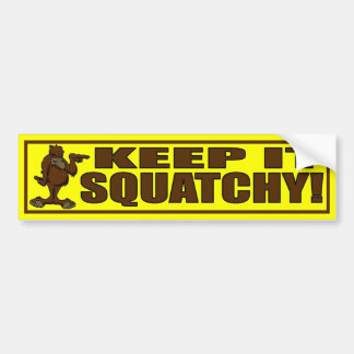 KEEP IT SQUATCHY - Hipster Bigfoot Bumper Sticker