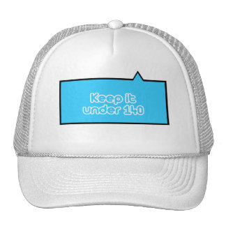Keep it under 140 characters mesh hats