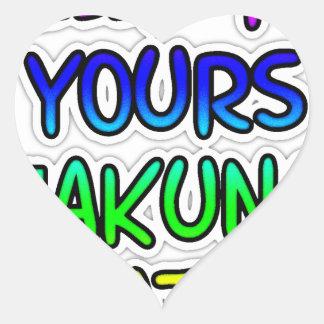 KEEP IT YOURS Hakuna Matata Gifts Heart Sticker