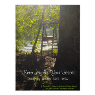 Keep Joy Donation Poster and Framed Canvas Print