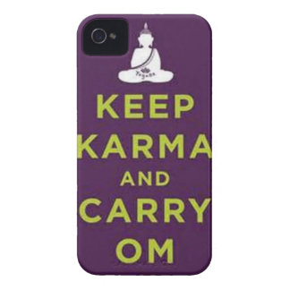 Keep Karma and Carry Om iPhone 4 Cover