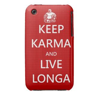 Keep Karma & live Longa iPhone 3 Cover