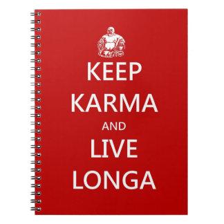 Keep Karma & live Longa Notebook