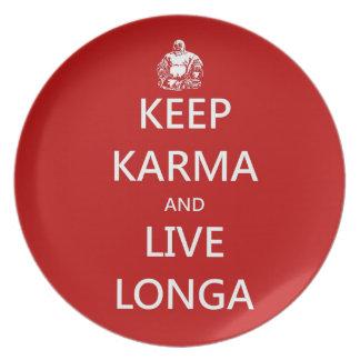 Keep Karma & live Longa Plate