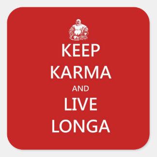 keep karma square sticker