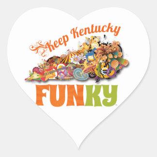 Keep Kentucky FunKY Heart Sticker