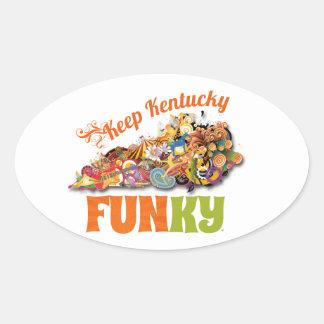 Keep Kentucky FunKY Oval Sticker